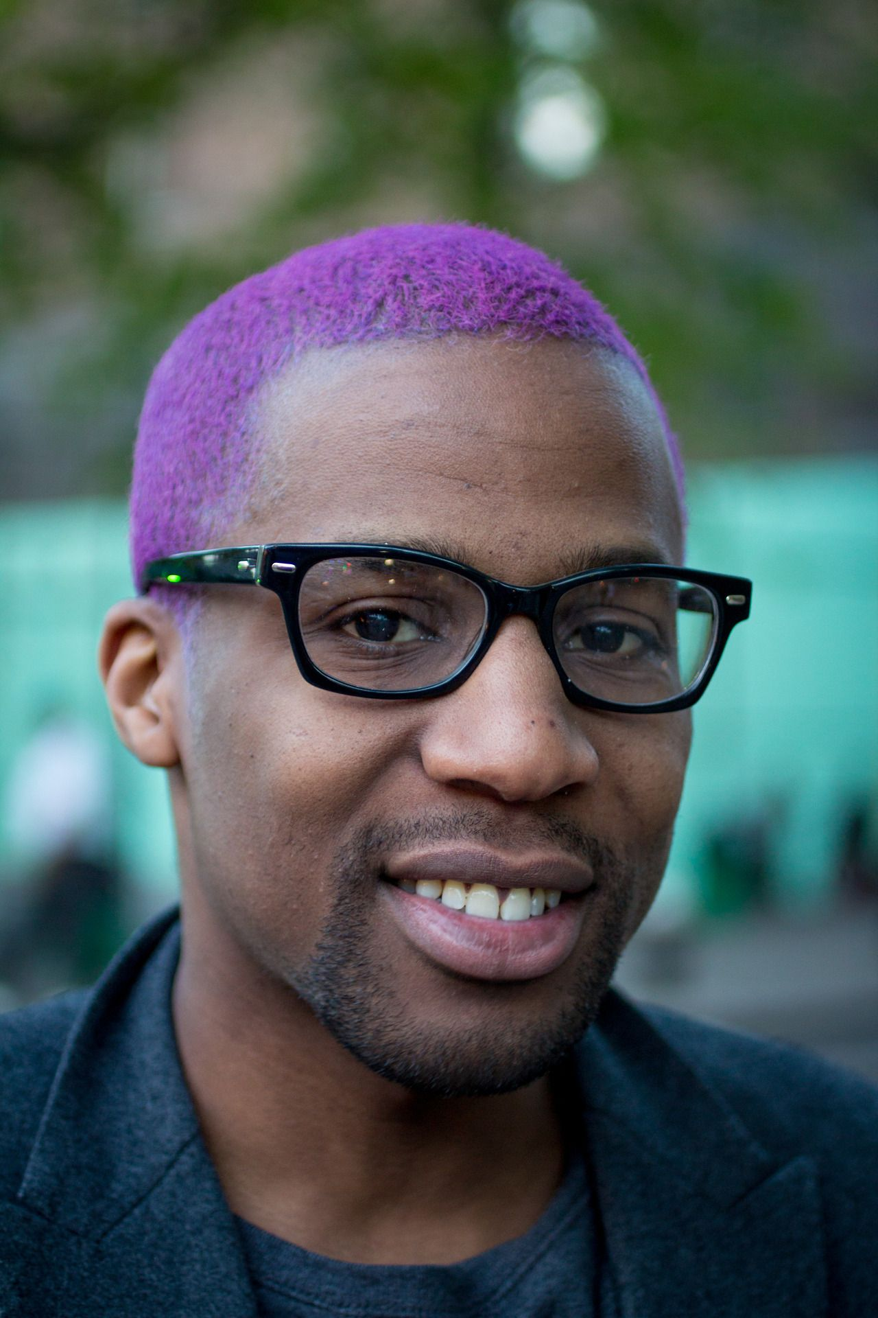 purple hair #man dude alternative