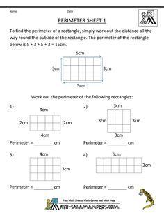 Perimeter Worksheets | 3rd grade math worksheets, 3rd ...