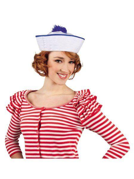 Faschingshut Matrose Mütze Marine Fasching Karneval