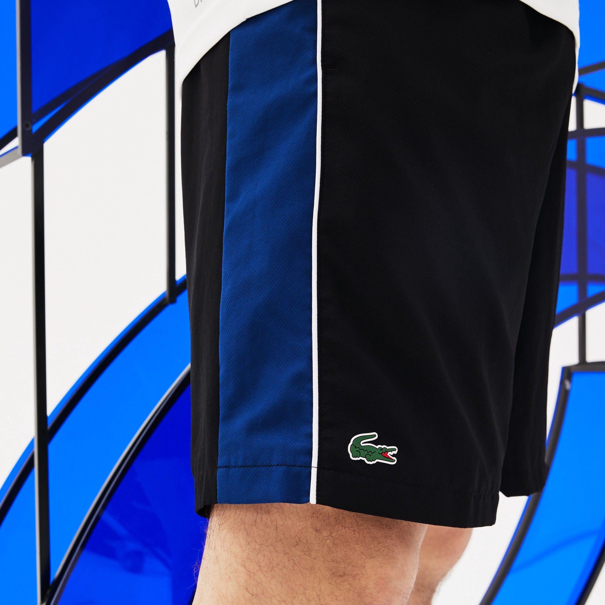 57bd6671e Lacoste Men s Sport Colorblock Shorts - Novak Djokovic Collection Black Navy-White  3XL
