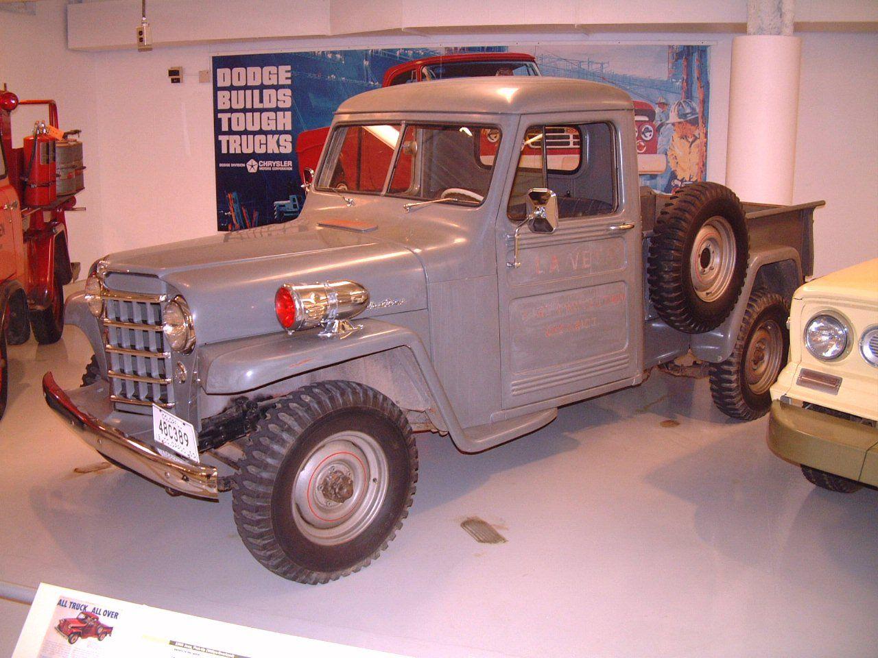 1950 Willys Overland Jeep Pickup Chesapeake Grey Fvl Garage Wpc