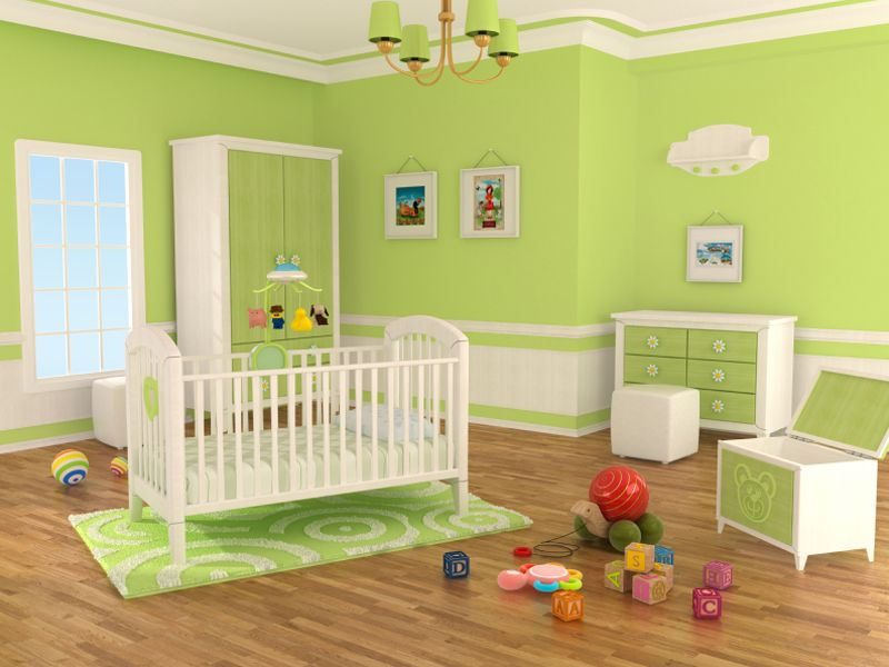Baby Nursery Amazing Green Room Ideas With White Cradles And