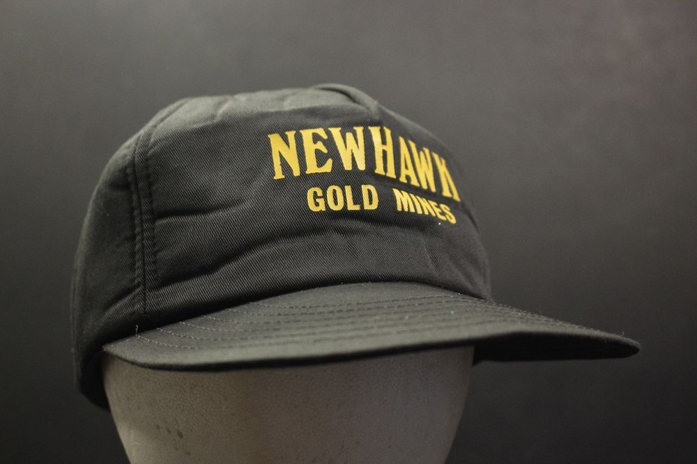 37b539a0 Vintage New Hawk Gold Mines Trucker Hat Cap Foam Snapback Adjustable ...