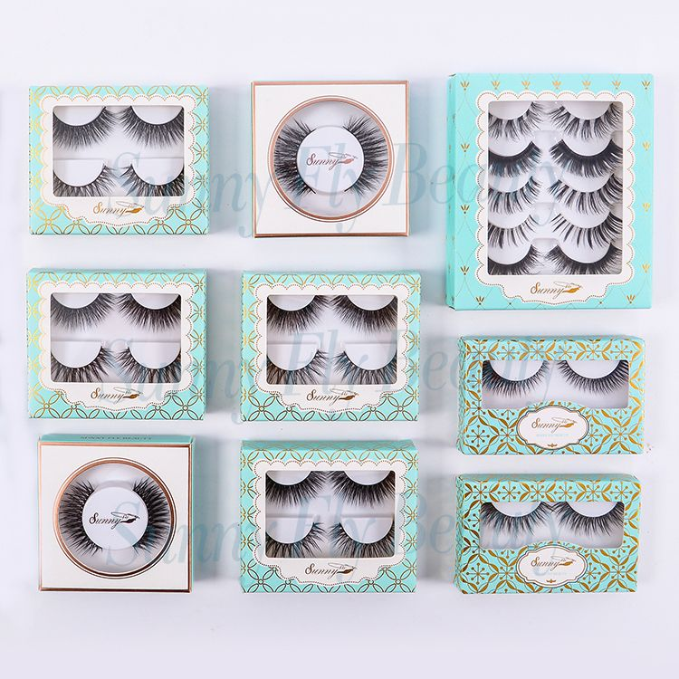 06cef4c1dc2 Brand name one dollar manufacturer indonesia square package false eyelashes