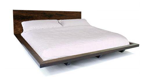 Platform Bed Frame In Solid Claro Walnut