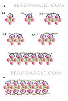 Free pattern for beautiful beaded bracelet Royal Violet | Beads Magic