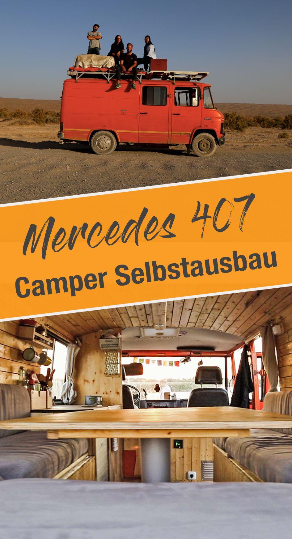 mercedes 407d wohnmobil selbstausbau campingbus ausbau. Black Bedroom Furniture Sets. Home Design Ideas
