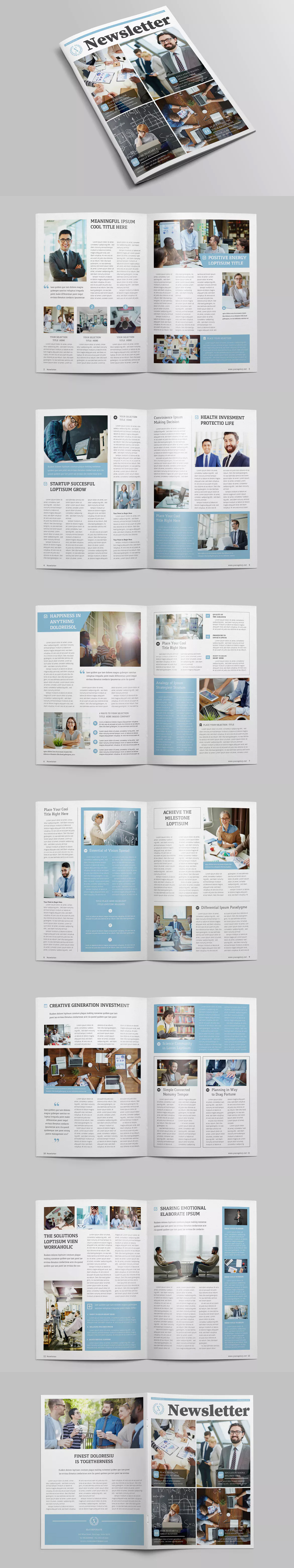 Multipurpose Newsletter Template Indd Indesign Templates