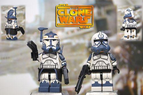 Battle Droids Commander Wolfe /& Clone Troopers LEGO Star Wars Minifigure LOT