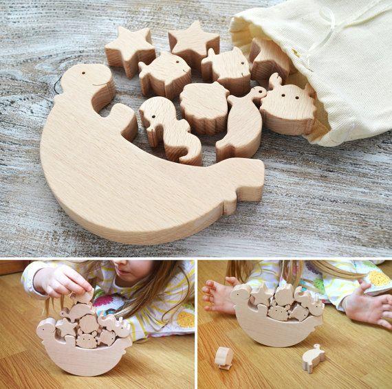 Personalizado sea tortuga equilibrio juguetes de madera