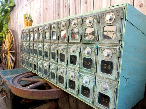 Vintage Post Office Box Mail Sorter Cabinet w/ by MerlesVintage ...