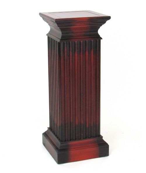 Square Column Pedestal Pedestales De Madera Columnas De Madera Flores De Madera