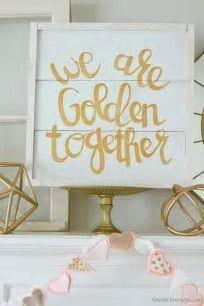 Hochzeitsdekorationen mit kleinem Budget Gold 50. Jahrestag 24 trendige Ideen # 50. #anni …