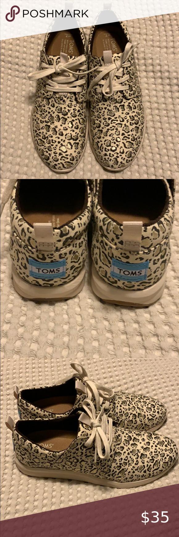 TOMS cheetah print tennis shoes! in 2020 Cheap toms