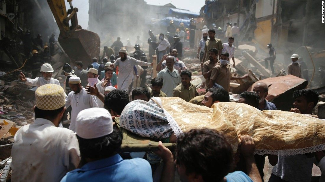 Building collapses in mumbai people trapped old building