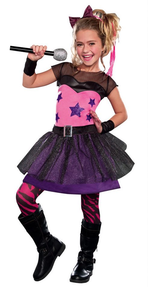 Girl 39 s 80 39 s rock star sweetie costume kids 39 80s costumes for Children s halloween costume ideas