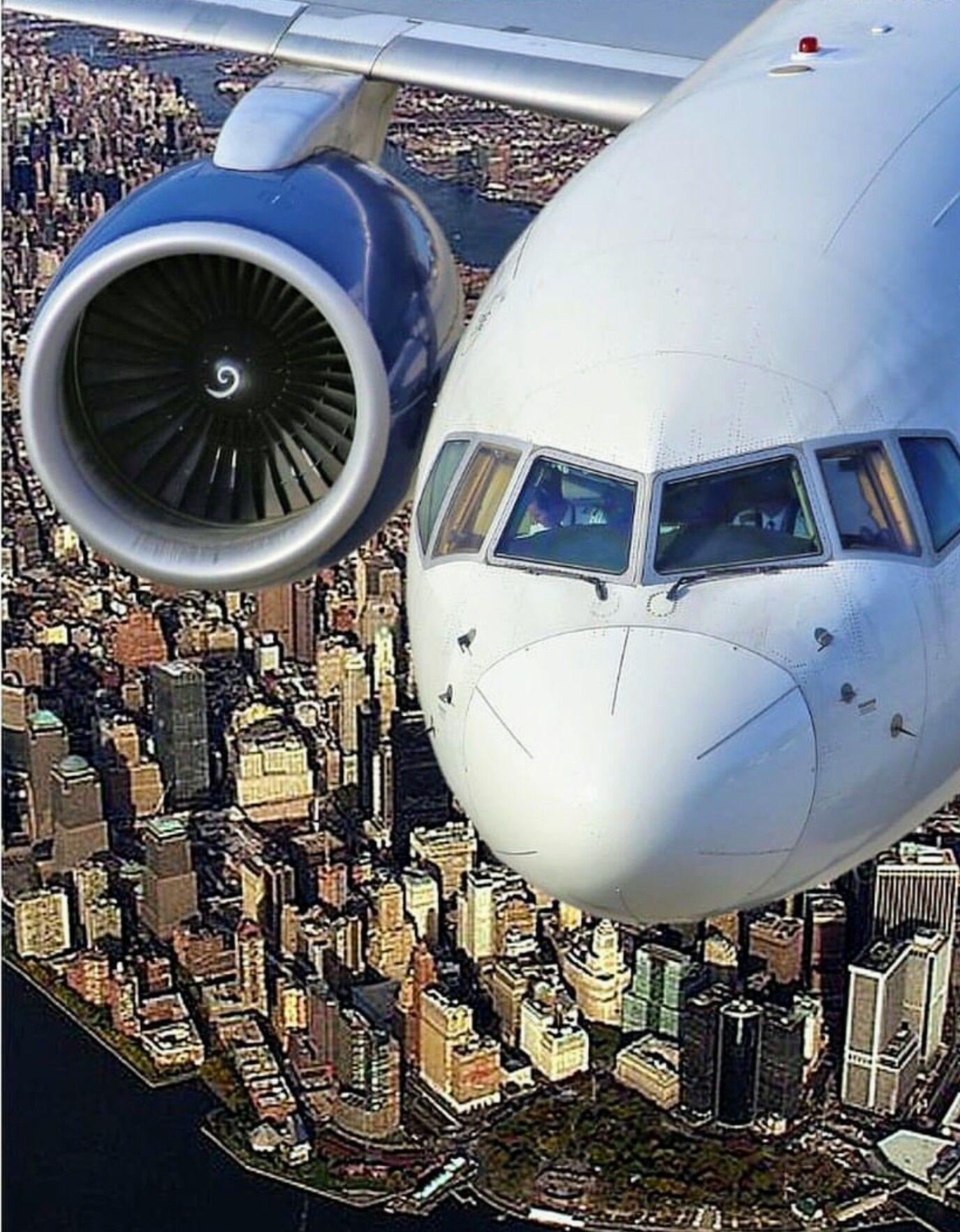 757 Over Nyc Aircraft Aviation Civil Aviation