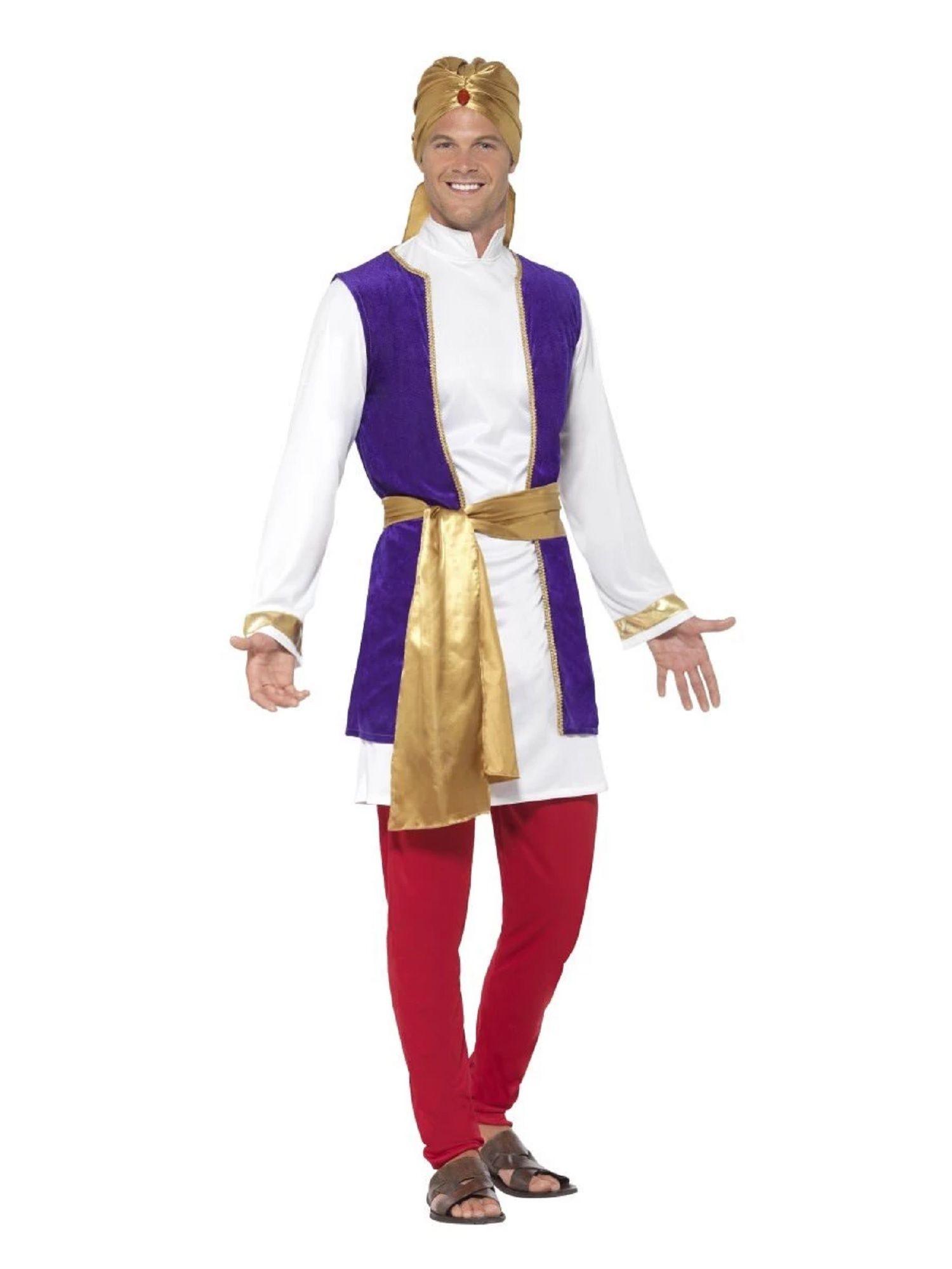 Mens Arabian Desert Prince White Trousers Fancy Dress One Size Fantasy Costume