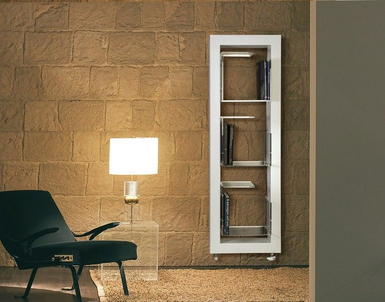 moderne Heizkörper -edelstahl-wohnzimmer-buecherregal-BOXES - heizkorper modern wohnzimmer
