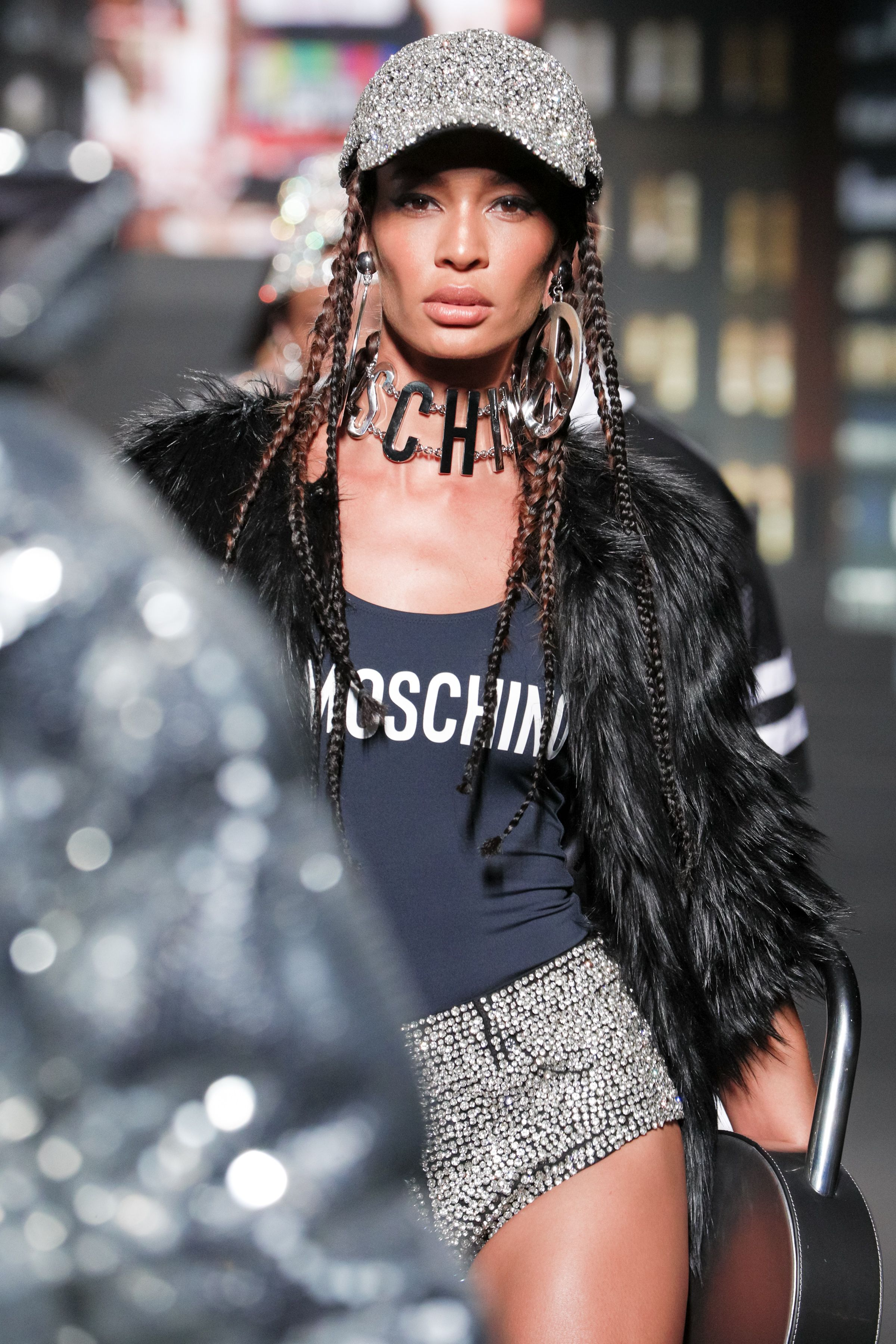 d4f134a244 Fresh off the runway! The MOSCHINO  tv  H M fashion show with Gigi ...