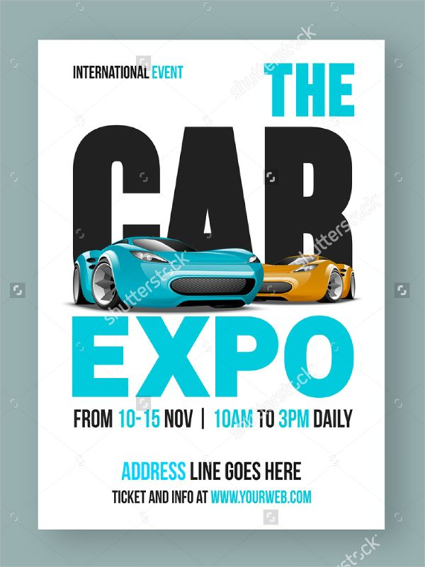 Luxurious Cars Show Flyer  Cars    Proposal Templates