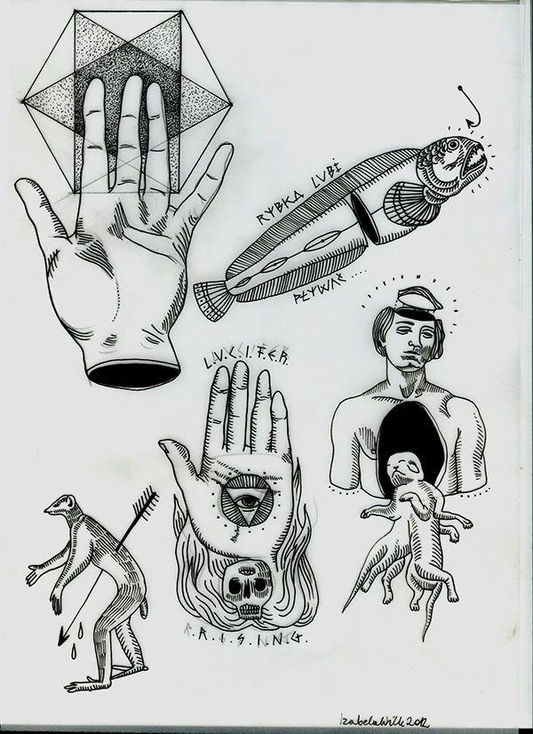 Flash Sheet Tattoo Designs On Behance Dark Tattoo Tattoo Graphic Flash Tattoo Designs