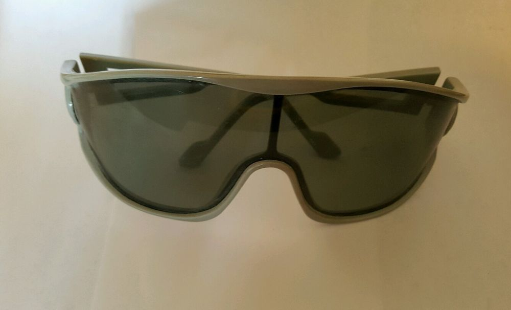 Cool Ray Vintage Sunglasses wrap around Grey Gray Frame large lenses #CoolRay