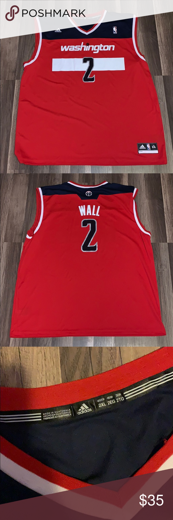 new arrivals 700dd cce96 John Wall Wizards Jersey - XXL Adidas Wizards Jersey Smoke free home adidas  Other