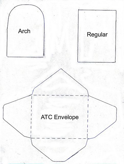 Atc Envelope Template  Paper Crafting    Template