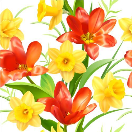 Yellow with red flower pattern vector httpswelovesolo yellow with red flower pattern vector welovesolo mightylinksfo