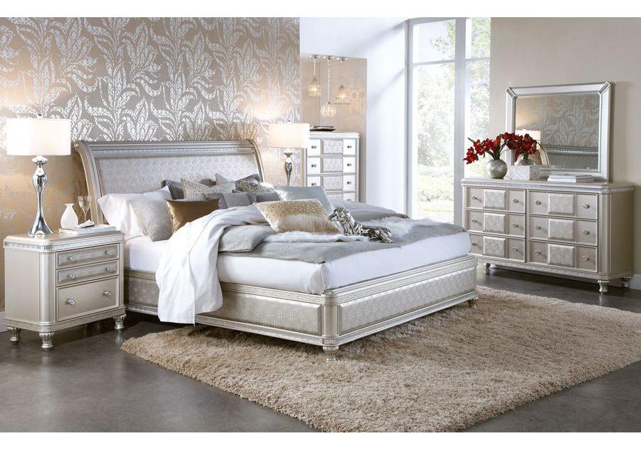 Hefner Platinum 5 Pc Queen Bedroom King Bedroom Sets Bedroom