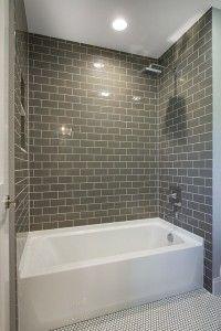 Bathroom Bath Nook With Floor To Ceiling Tiles Bathroom Bath Nook With Floor To Ceiling Gray Tiles Bathro Small Bathroom Remodel Bathtub Remodel Bathtub Tile