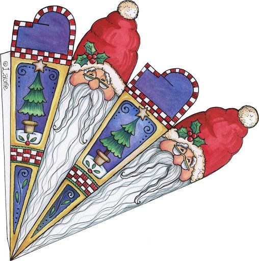 A Christmas Sampler 3 - Monserrat Ponce - Picasa Web Albums...paper icicles to download and fold!!