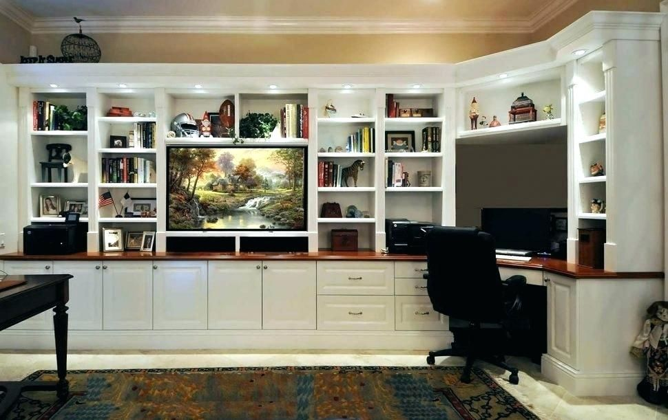 Fashionable Office Designs June 2018 Desk Wall Unit Built In
