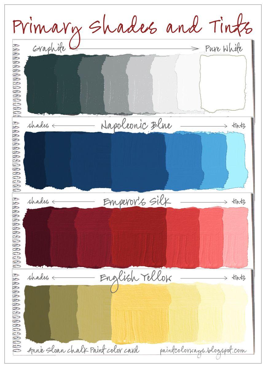 Colorways Annie Sloan Chalk Paint Primary Colors Shades Tints Annie Sloan Chalk Paint Navy Chalk Paint Colors Annie Sloan Colors