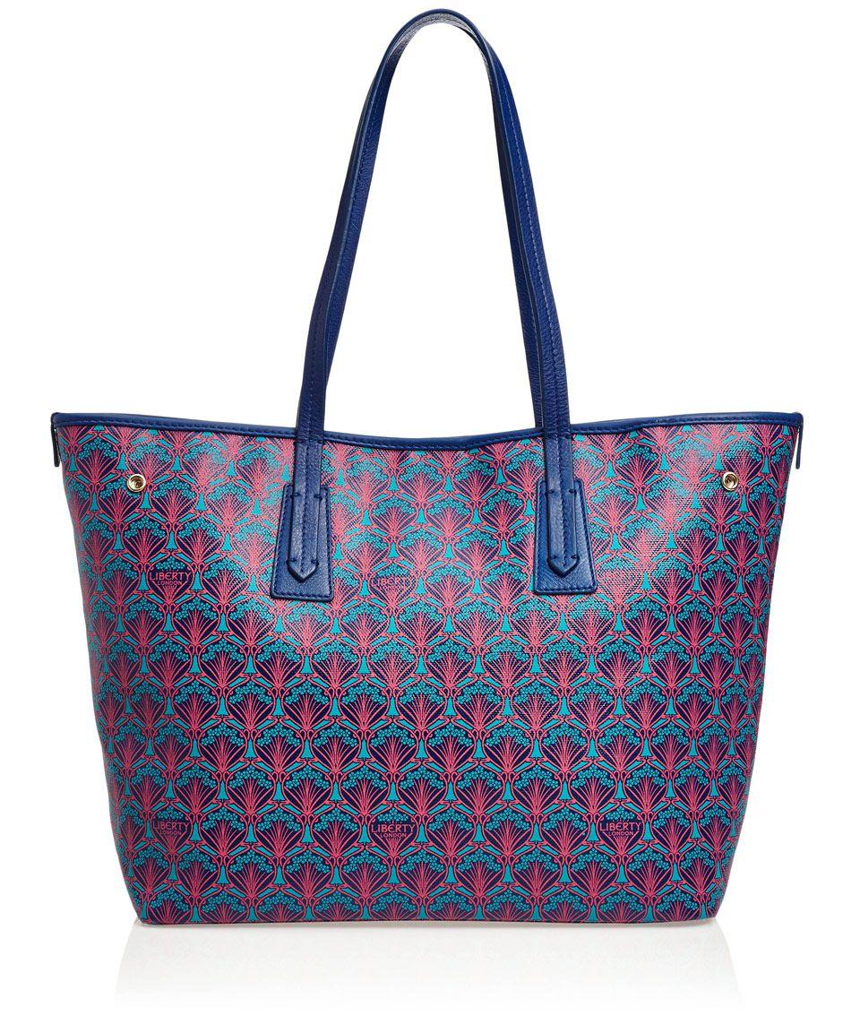 Blue Liberty London Little Marlborough Small Tote Bag Designer Bags Co Uk