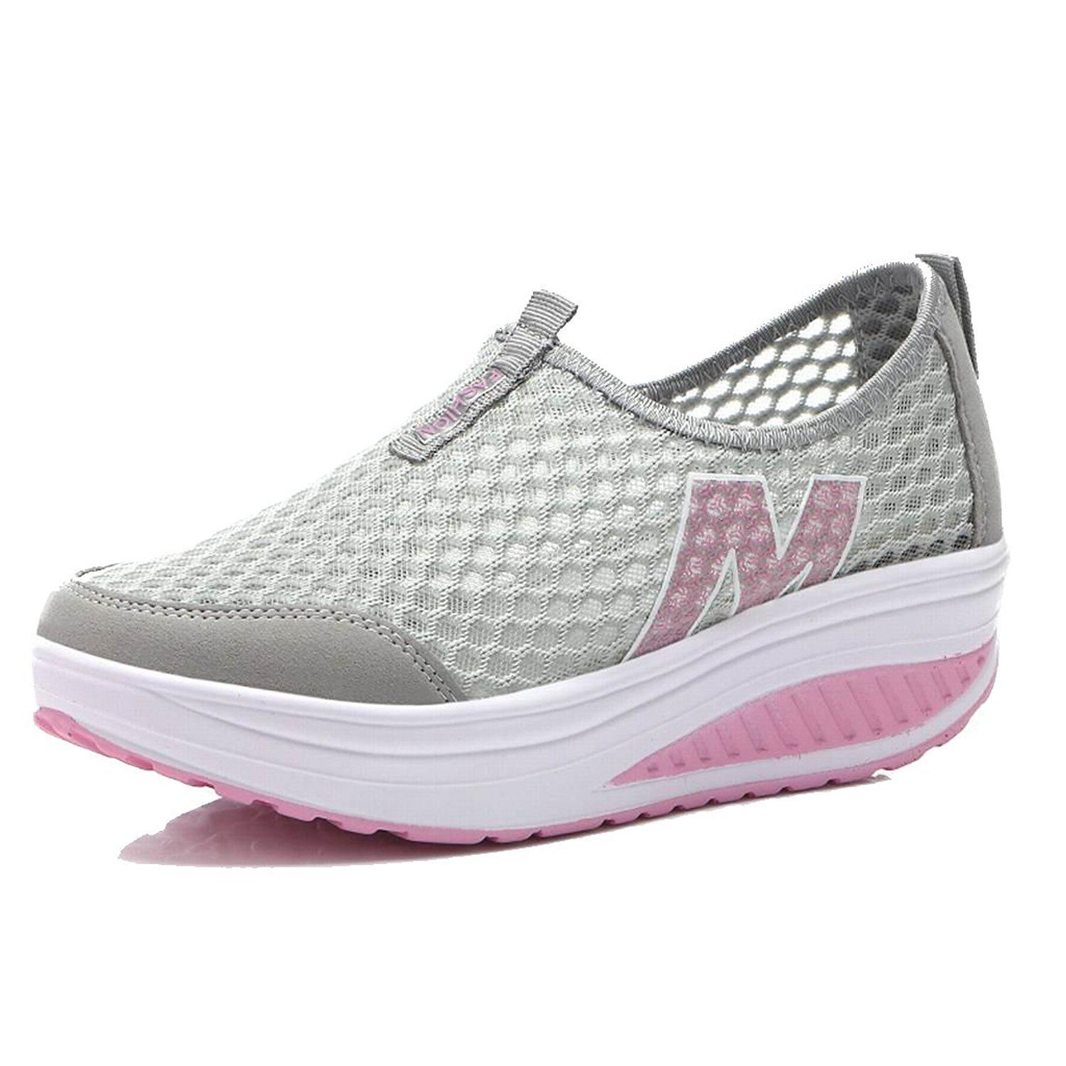 43fa1c87463 L LOUBIT Women Sneakers Comfort Slip On Wedges Shoes Breathable Mesh  Walking Shoes For WomenWalking -- This is an Amazon Affiliate link.