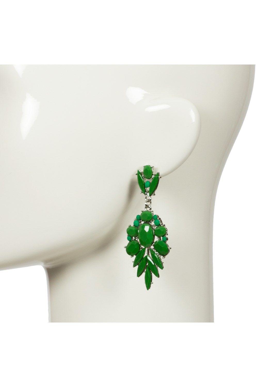 Earrings - Resin Pointed Palm Drop Earring - Adorne - $15.00