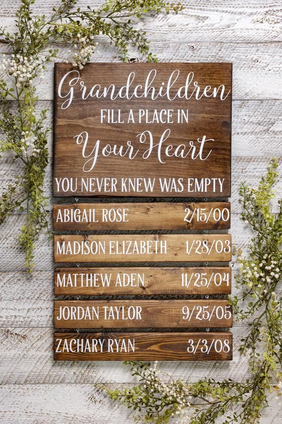 Personalized Fathers Day GIfts, Grandparent Gift, Grandparents Sign, Grandchildren Fill A Place In Your Heart You Never Know Was Empty - Odds & Ends -