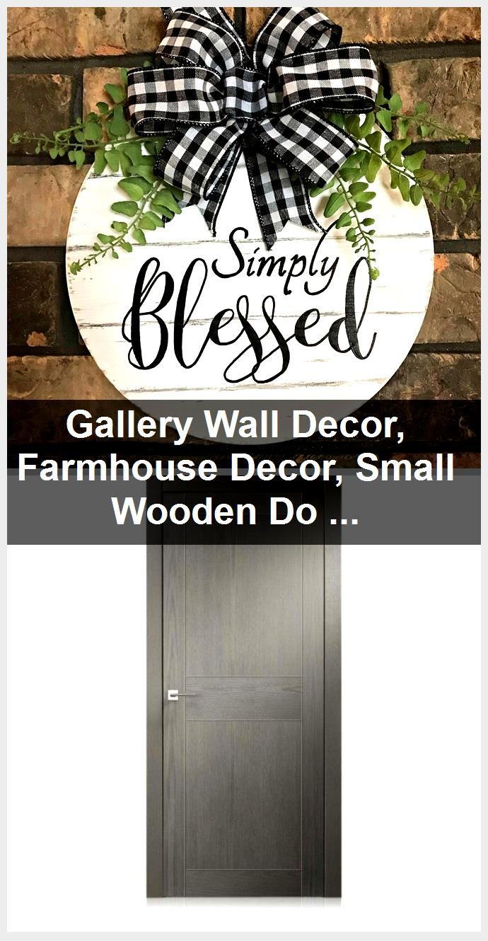 Photo of Gallery Wall Decor, Farmhouse Decor, Small Wooden Door Hanger, Hand Painted Simply Blessed Si…