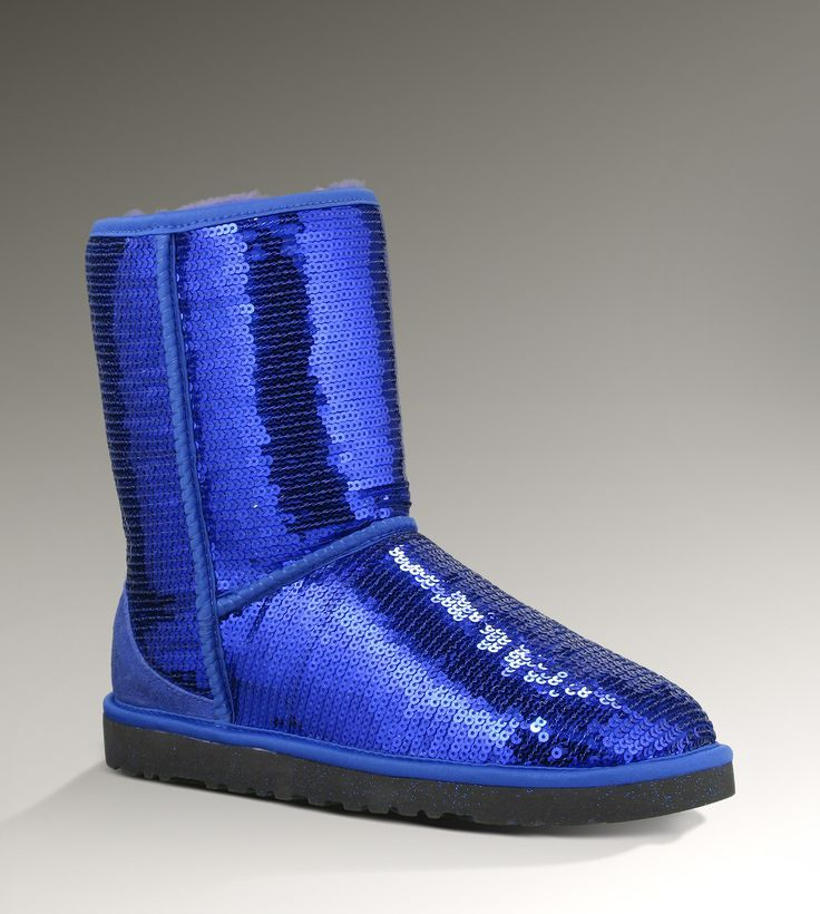 Love these - UGG 3161 Classic Short Sparkles Boots Blue