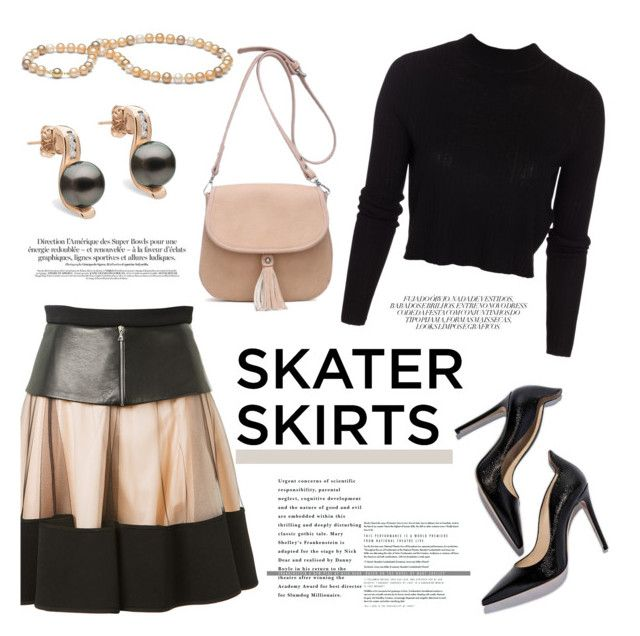 """Skater Girl"" by pearlparadise ❤ liked on Polyvore featuring David Koma, ONLY, women's clothing, women, female, woman, misses, juniors, skaterSkirts and contestentry"