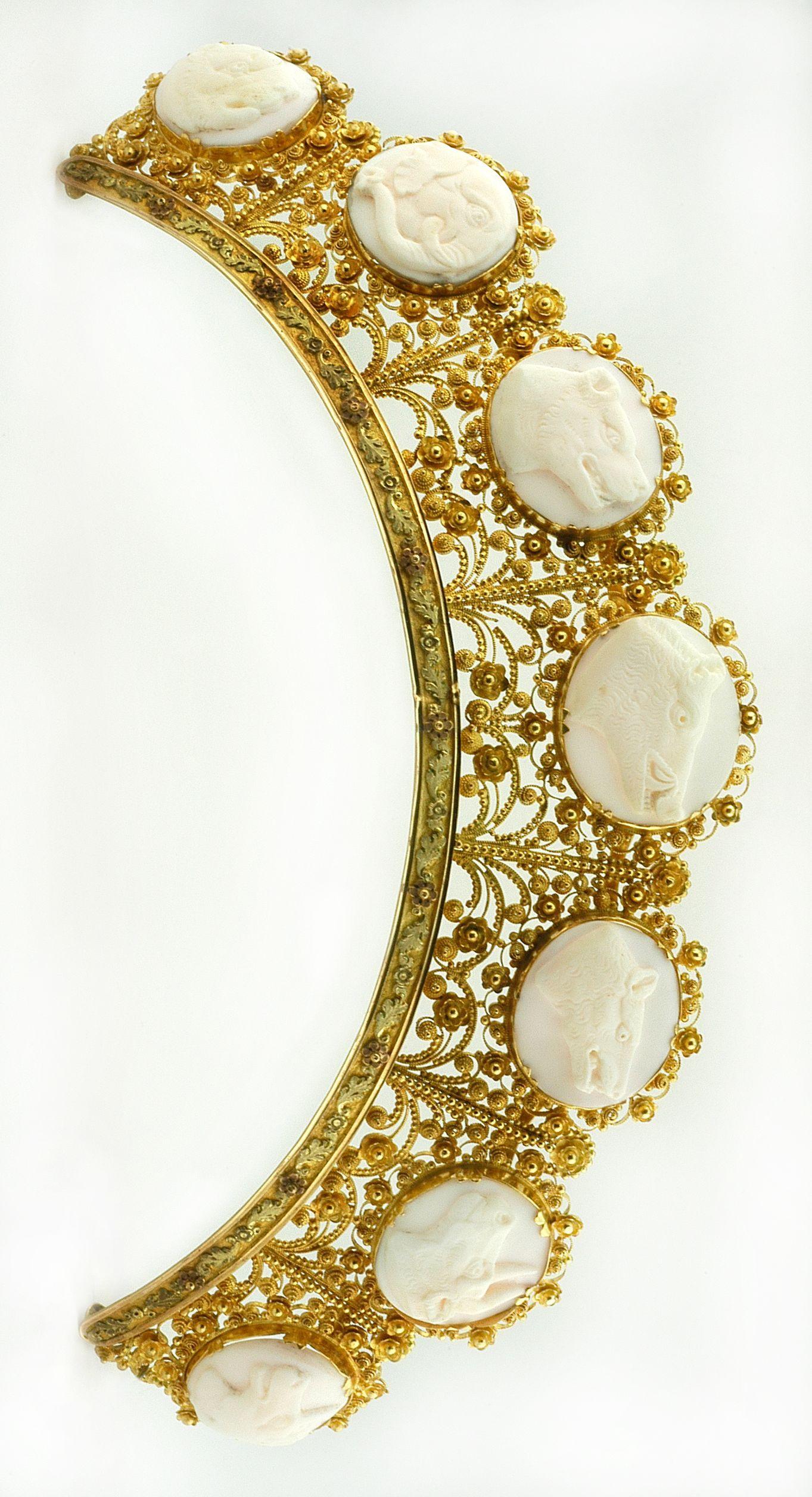 carved coral tiara