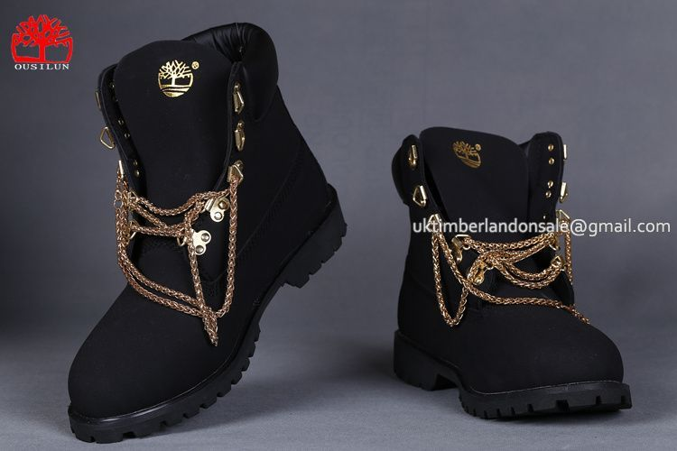 cuscús Expansión mental  Timberland Women's 6 Inch Classic Gold Chain Boot-Black $80.00 | Timberland  boots, Timberland boots women, Boots