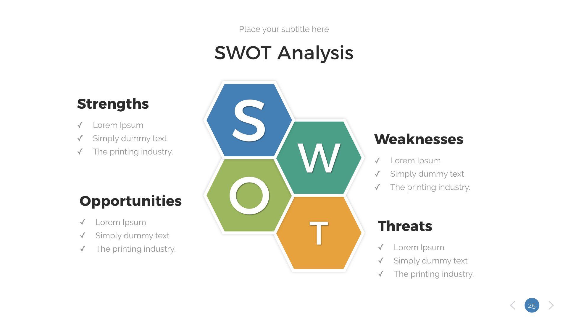 swot analysis keynote presentation template  analysis