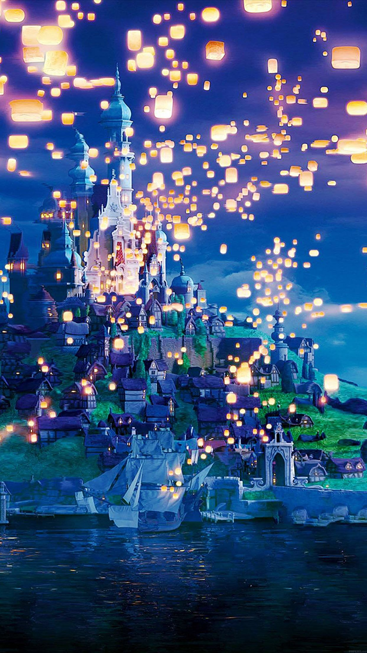 Tangled movie, lanterns