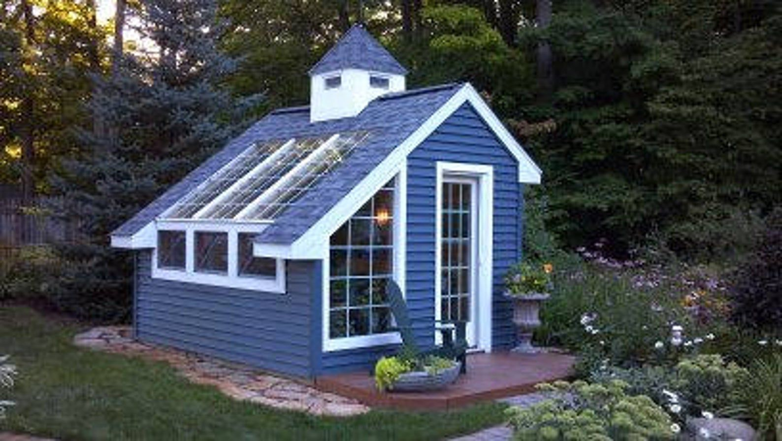 Greenhouse Shed Building Project Plans - size 10 x 12 in ...