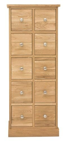 This Mobel Oak Multi Drawer DVD / CD Storage Chest Is A Part Of Mobel