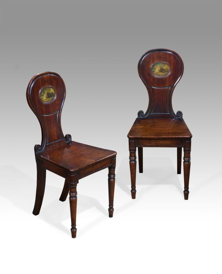 Pair of antique hall chairs | Regency, Hall and Antique chairs