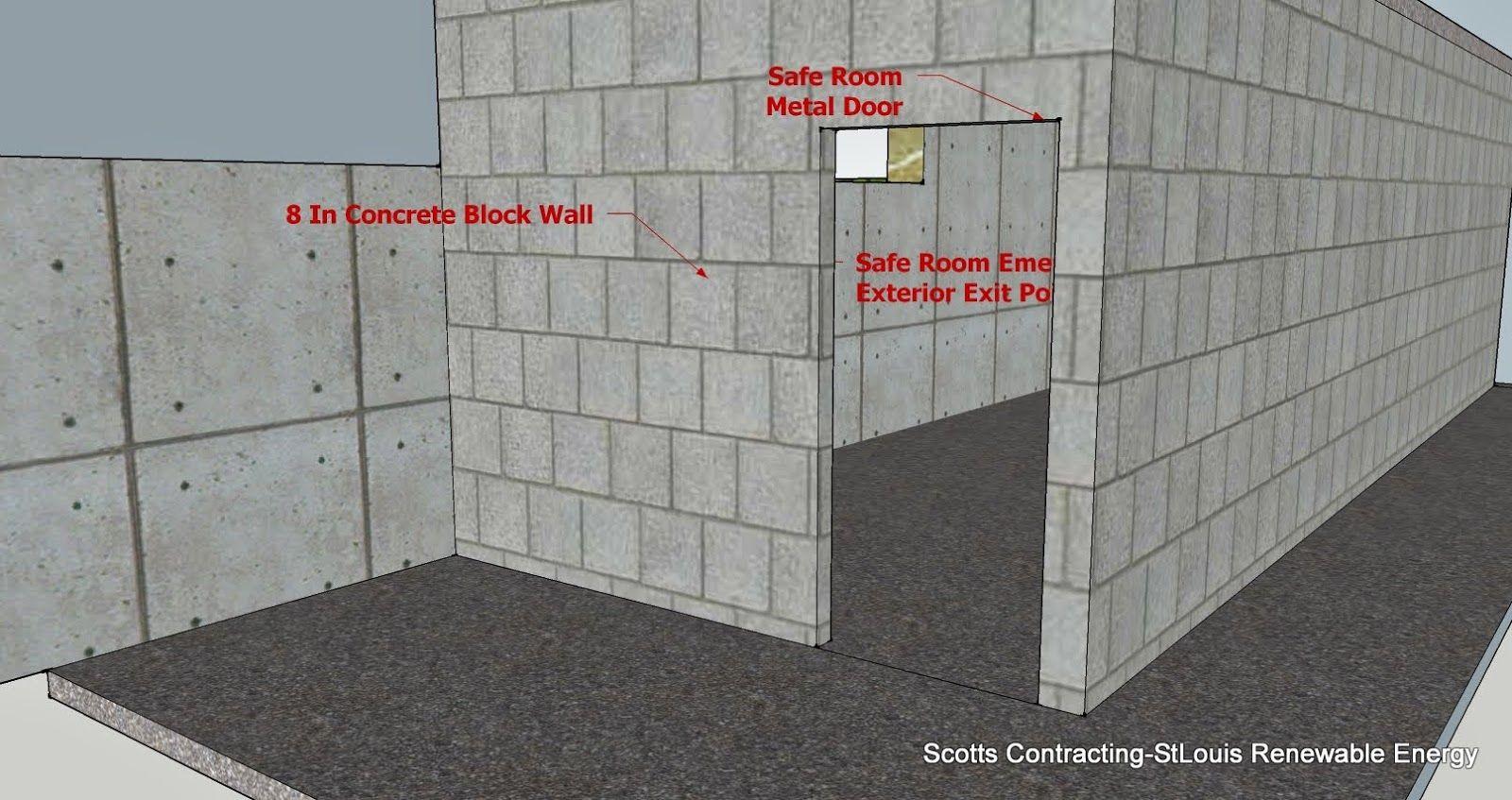 Safe Room CMU Basement Steel Door Location Alternate Housing - Metal basement doors